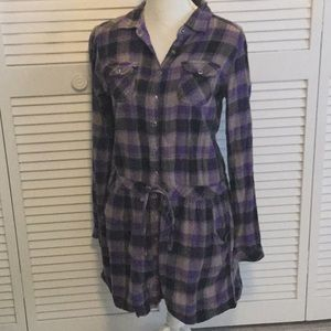 Buttoned down flannel dress